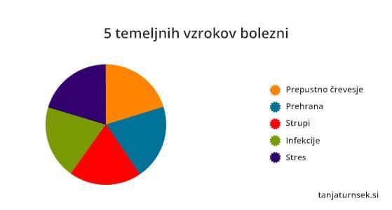 5 temeljnih vzrokov za bolezni